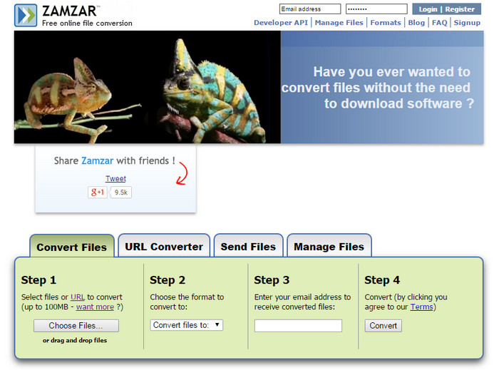 Online MP4 to MP3 Converters - Zamzar