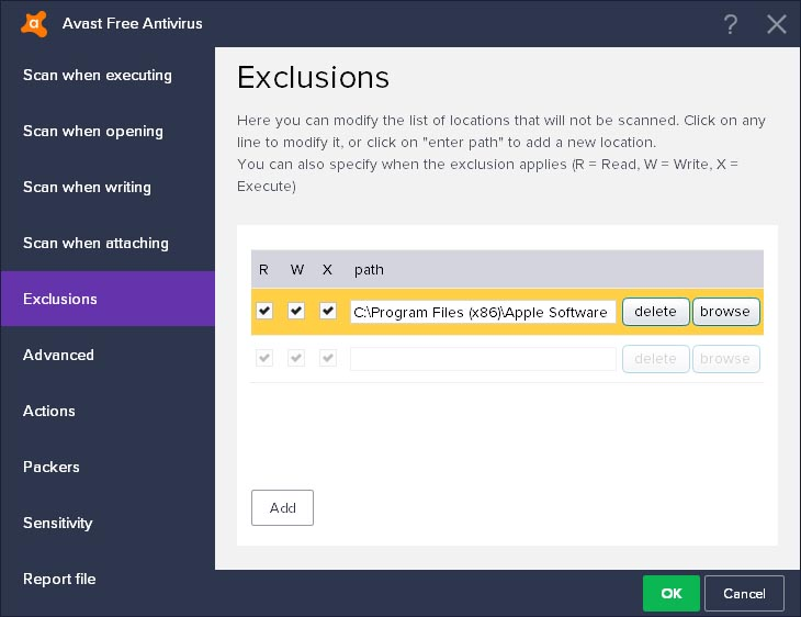 Stop Avast Free Antivirus 2017 from Blocking Websites - Add Websites to the Exclusions list