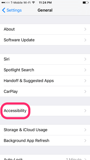 Change 3D Touch Settings on iOS - Accessibility