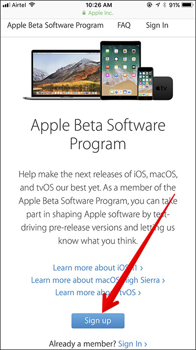 Download iOS 11 public beta - Prepare Your Device