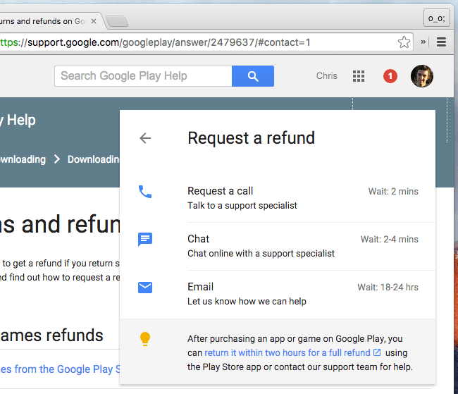 Get Refund on Google Play Store Apps - Contact Google for help
