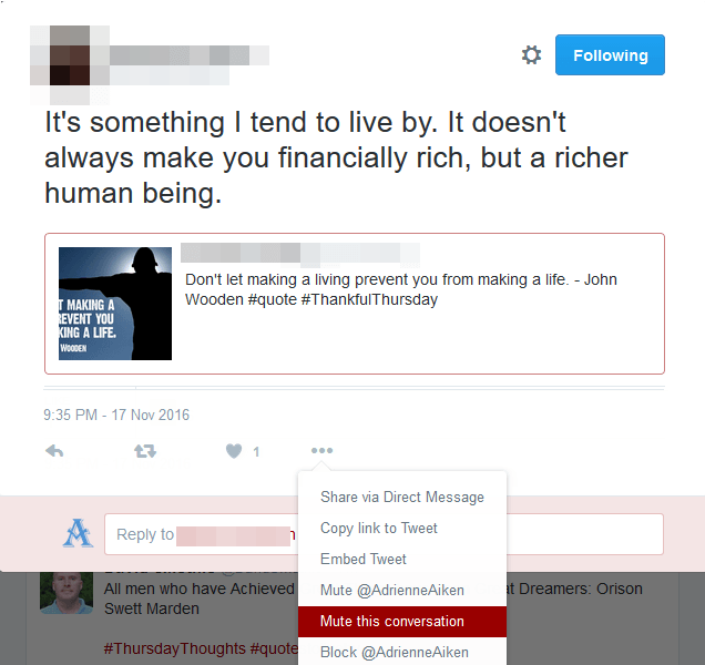 How to Mute a Twitter Conversation on Web - Mute this conversation