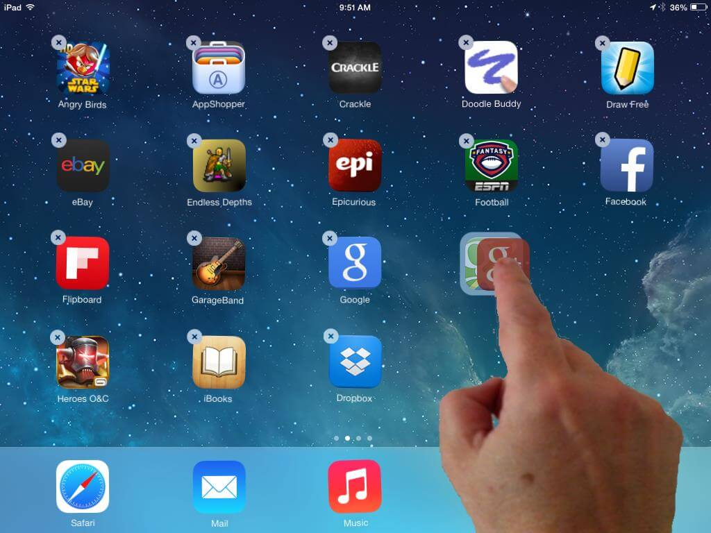 iPad Tips - Organize your apps with folders