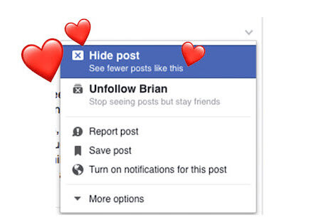 Clean up Your Facebook News Feed - Hide Post