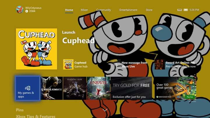 Pin Apps and Games on Xbox-Locate Apps and Games