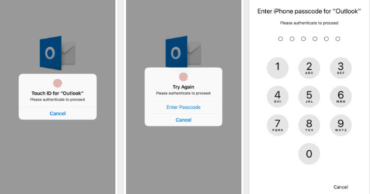 Protect Emails on iPhone-enter iPhone Passcode