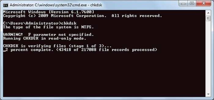 Repair Corrupted Files in Windows - Run Disk Check