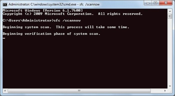 Repair Corrupted Files in Windows - Run SFC scan