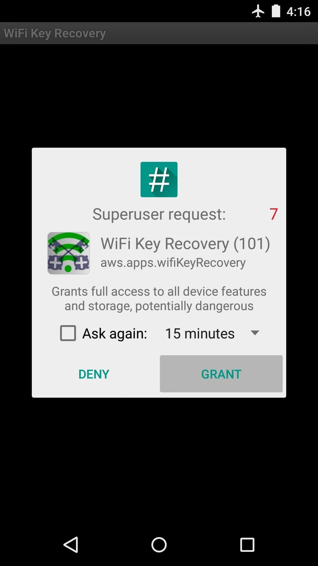 View Saved WiFi Passwords-Superuser request