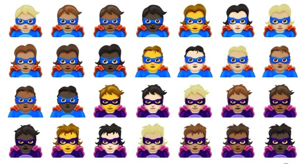 157 New Emojis - Superheroes
