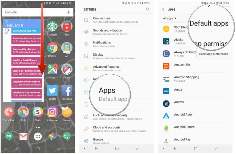 Change Default Texting App on Android - Default Apps on Samsung