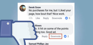 Facebook Downvote