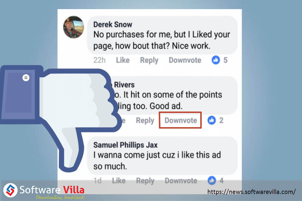 Facebook Downvote Button is in Testing Phase, Fixing Comment Moderation