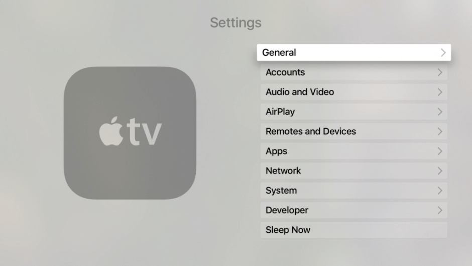 HomePod with Apple TV-Video and Audio in Settings on Apple TV