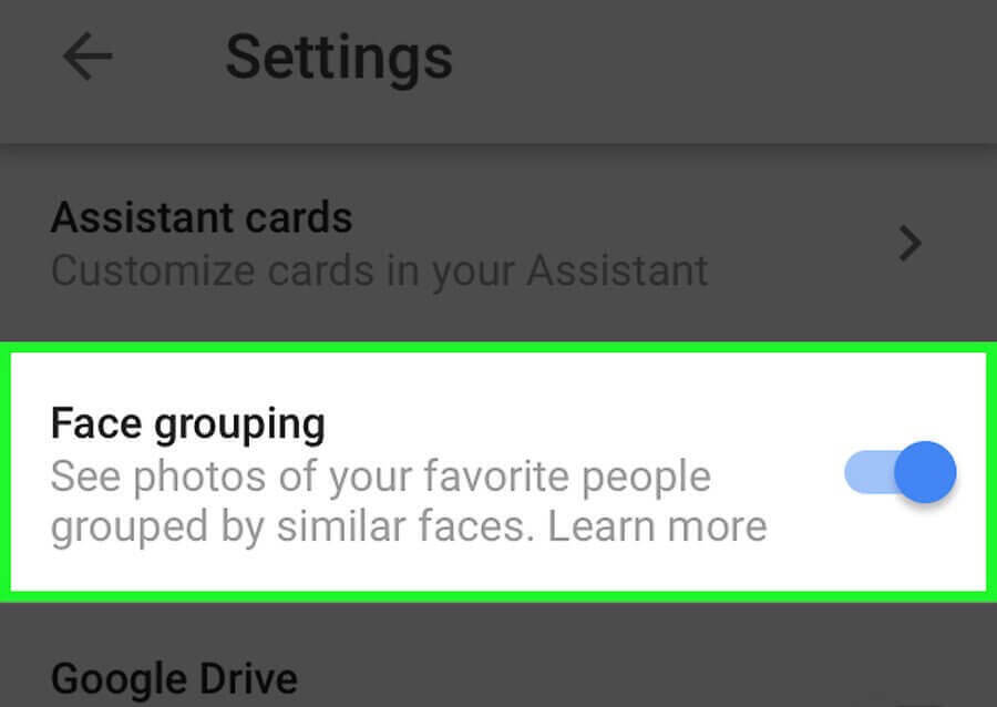 Label Faces in Google Photos-Enable Face Grouping