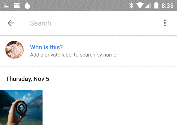 Label Faces in Google Photos-Tap Who is this option