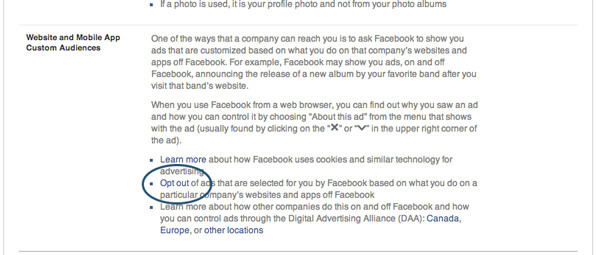 Remove Facebook Browser History Ads on the Web - Opt Out Option