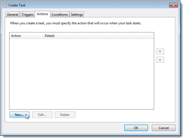 Create an Alarm in Windows 7-Set an Alarm by Creating a Task-Create an Action