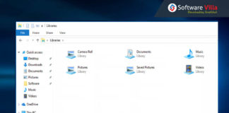 Enable Libraries in Windows 10
