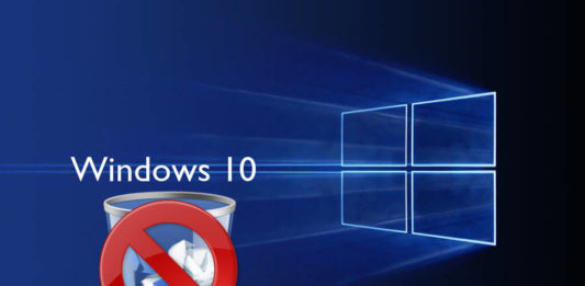 Remove the Recycle Bin from Windows 10