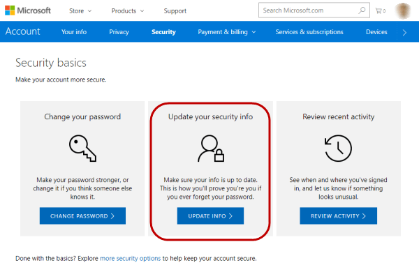 Secure Your Microsoft Account-Keep Updating Your Recovery Information