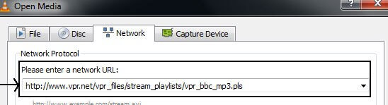 Stream Internet Radio using VLC-Connect Directly-Enter a Radio Channel URL