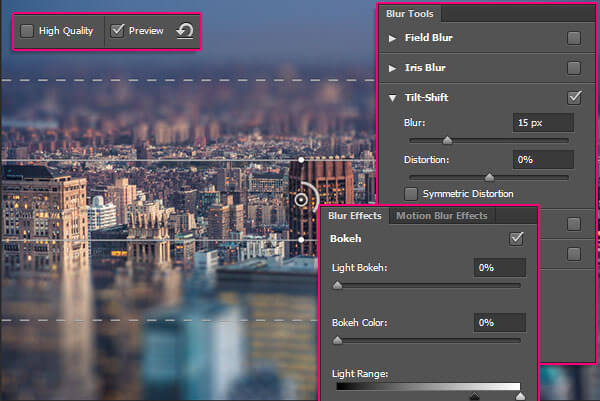 Blur Backgrounds in Photoshop-Blur Effects Panel and Blur Tools Panel-Pin at the Center