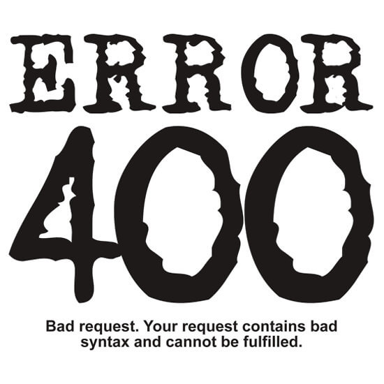 Fix Common Website Errors-Website 400 Error