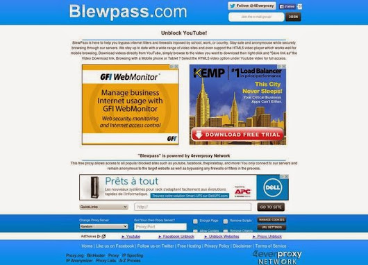 Proxy Websites 2018-BlewPass