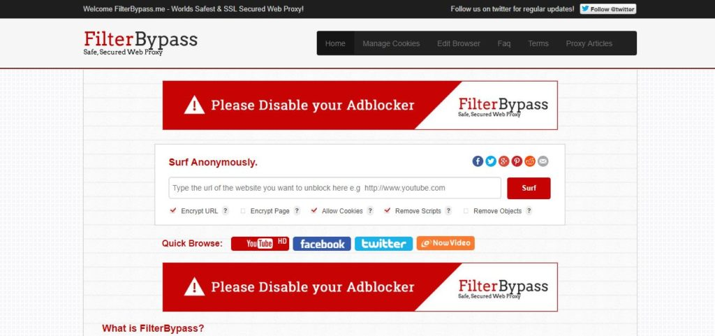 Proxy Websites 2018-FilterBypass