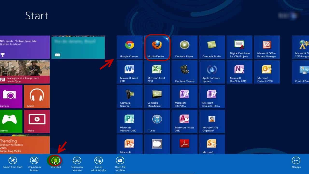 Windows 8 Tips and Tricks-Uninstall Programs within Seconds