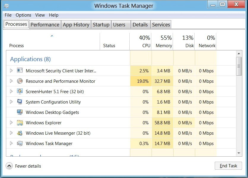 Windows 8 Tips and Tricks-Use the Revamped Task Manager